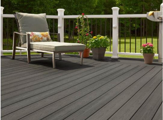 composite deck with chair