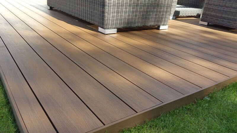 timber Decking with chair